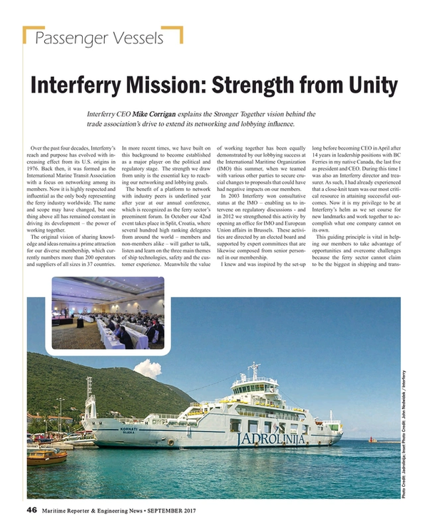 Maritime Reporter Magazine, page 46,  Sep 2017