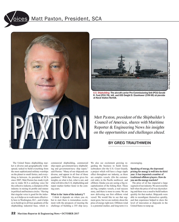Maritime Reporter Magazine, page 22,  Oct 2017