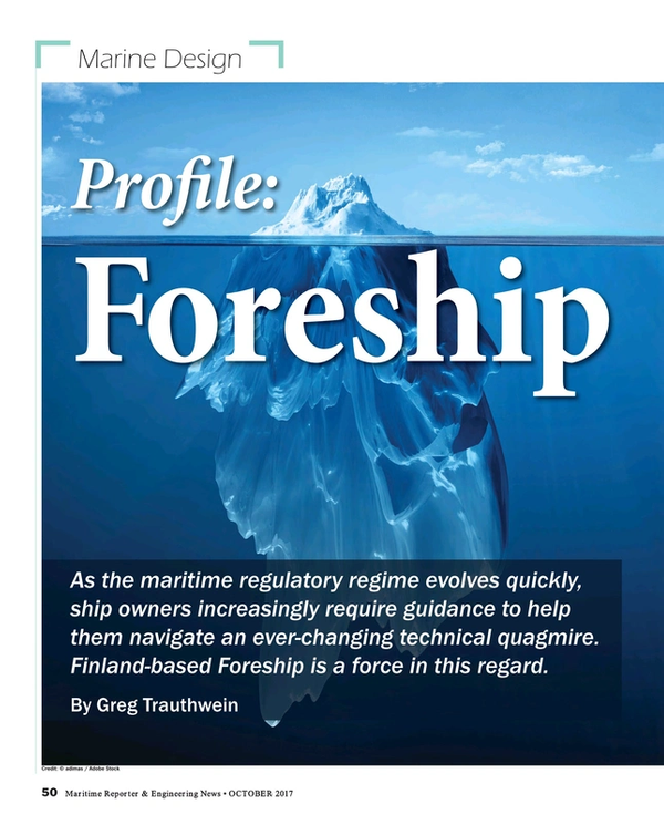 Maritime Reporter Magazine, page 50,  Oct 2017