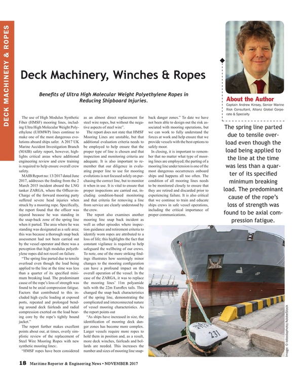 Maritime Reporter Magazine, page 18,  Nov 2017