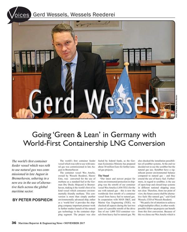 Maritime Reporter Magazine, page 36,  Nov 2017