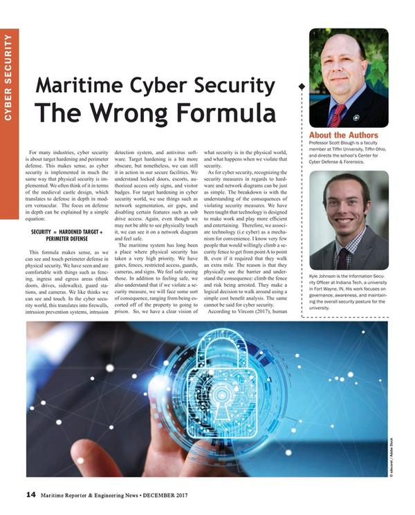 Maritime Reporter Magazine, page 14,  Dec 2017