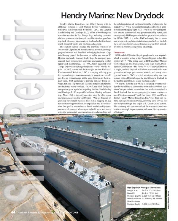 Maritime Reporter Magazine, page 44,  Jan 2018