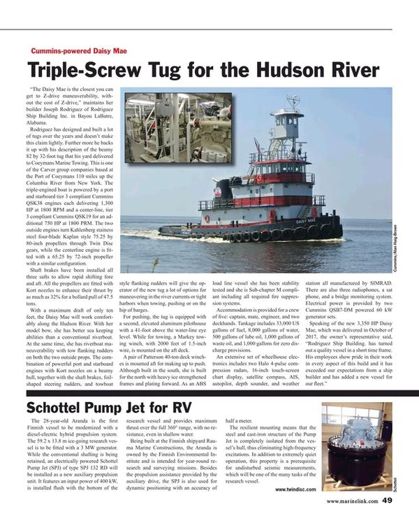 Maritime Reporter Magazine, page 49,  Jan 2018