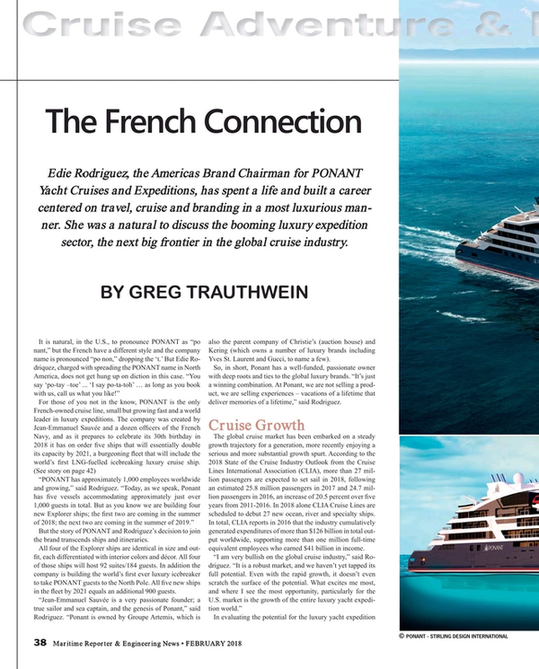 Maritime Reporter Magazine, page 38,  Feb 2018