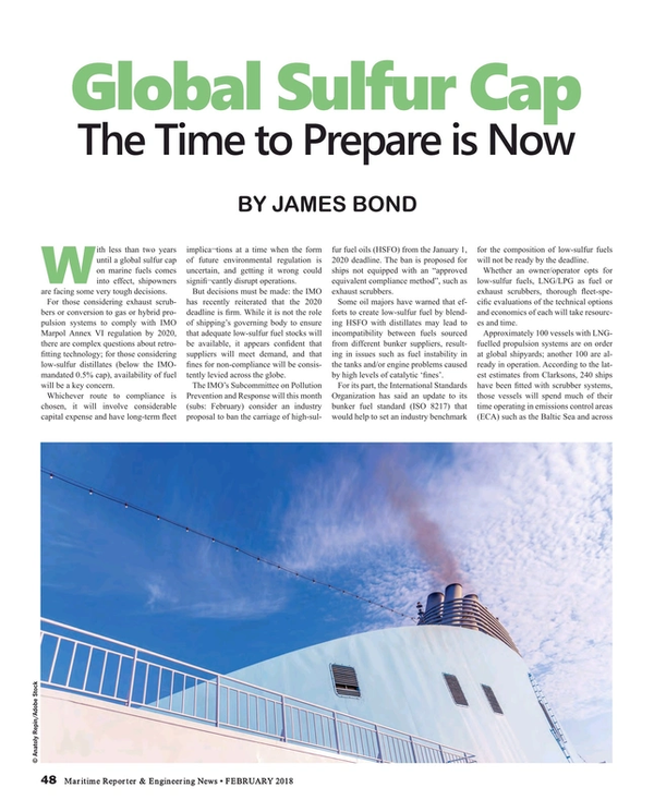 Maritime Reporter Magazine, page 48,  Feb 2018
