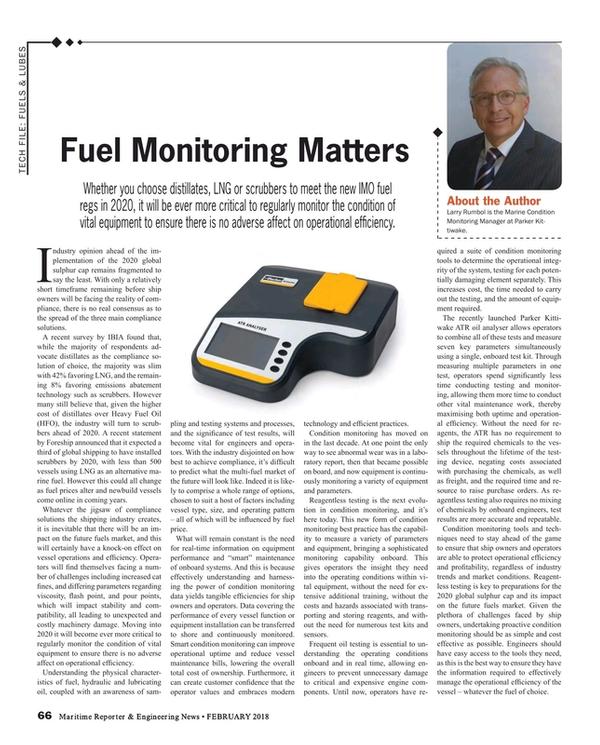 Maritime Reporter Magazine, page 66,  Feb 2018