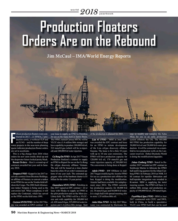 Maritime Reporter Magazine, page 50,  Mar 2018