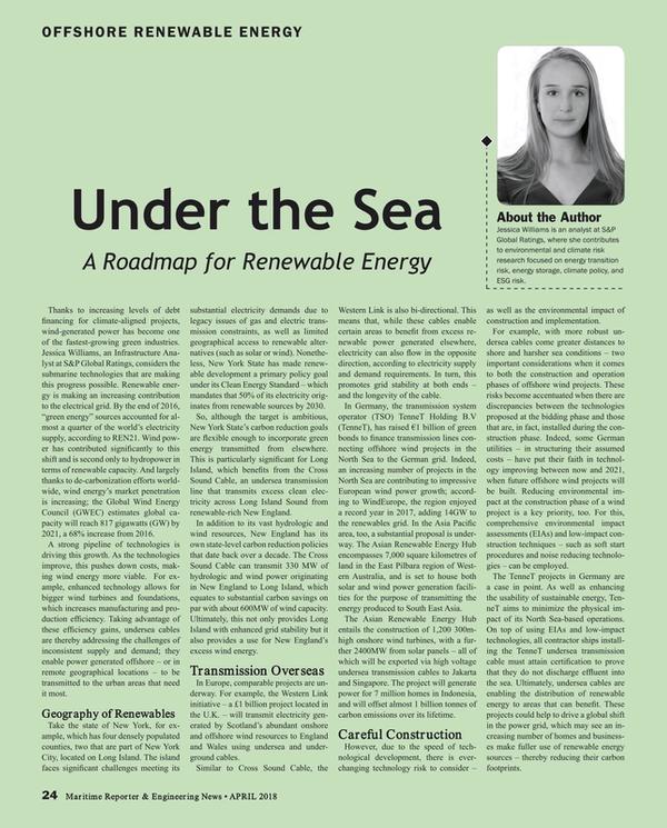 Maritime Reporter Magazine, page 24,  Apr 2018