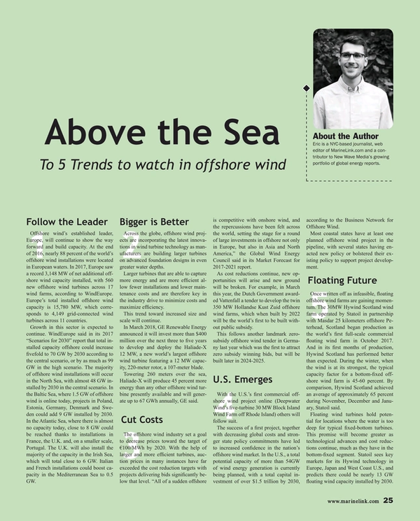 Maritime Reporter Magazine, page 25,  Apr 2018