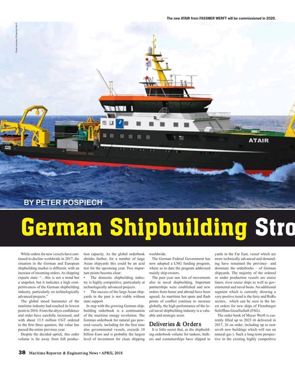 Maritime Reporter Magazine, page 38,  Apr 2018