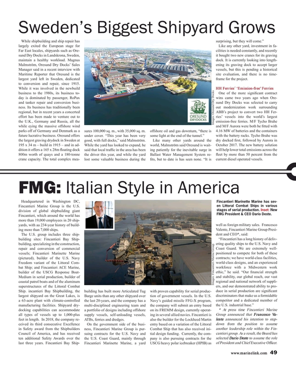 Maritime Reporter Magazine, page 49,  Aug 2018