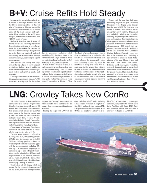 Maritime Reporter Magazine, page 51,  Aug 2018