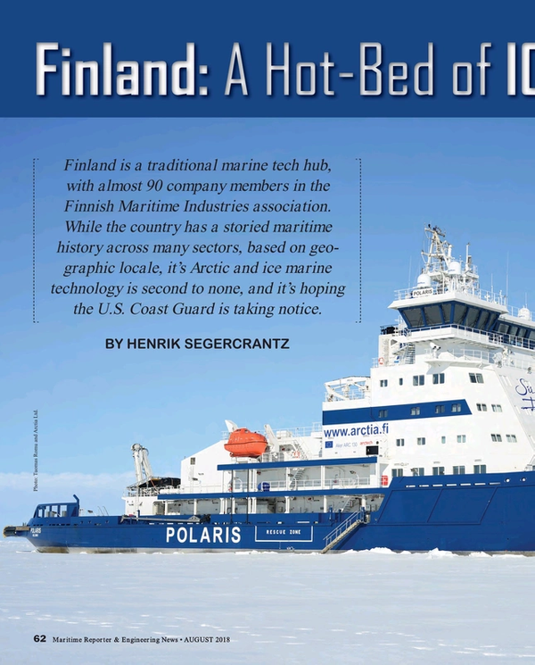 Maritime Reporter Magazine, page 62,  Aug 2018