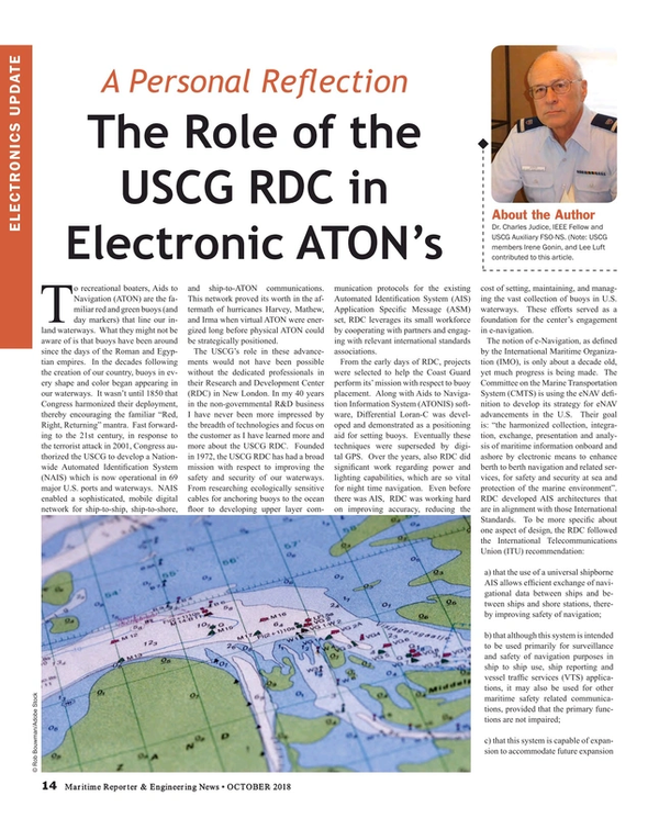 Maritime Reporter Magazine, page 14,  Oct 2018