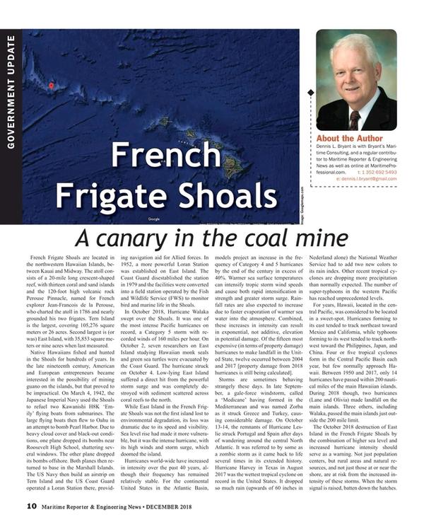 Maritime Reporter Magazine, page 10,  Dec 2018