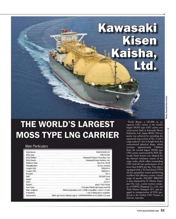 Maritime Reporter Magazine, page 31,  Dec 2018