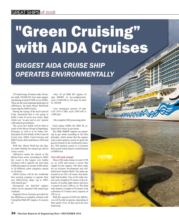 Maritime Reporter Magazine, page 34,  Dec 2018