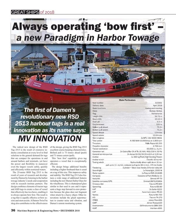Maritime Reporter Magazine, page 36,  Dec 2018