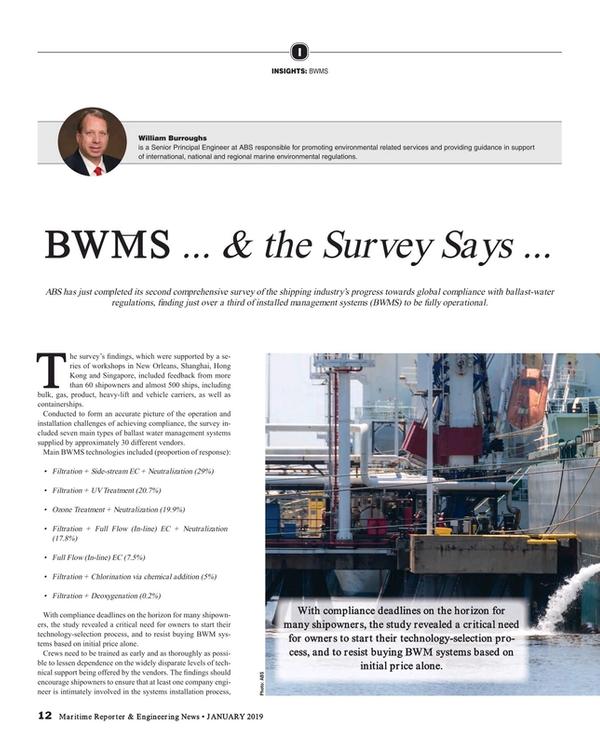 Maritime Reporter Magazine, page 12,  Jan 2019
