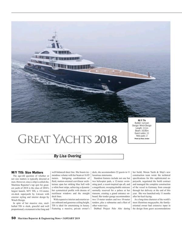 Maritime Reporter Magazine, page 50,  Jan 2019