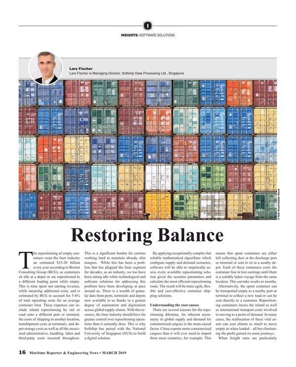 Maritime Reporter Magazine, page 16,  Mar 2019