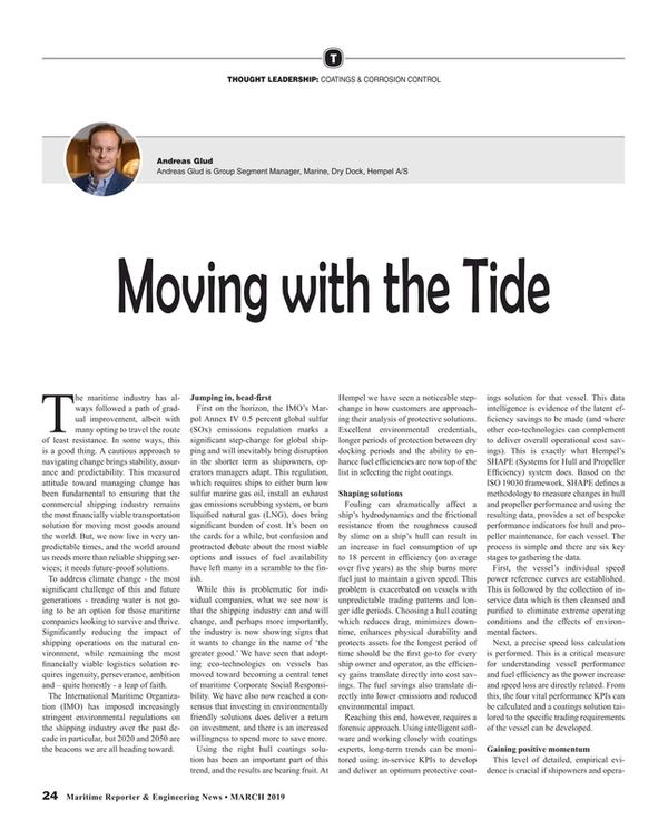 Maritime Reporter Magazine, page 24,  Mar 2019