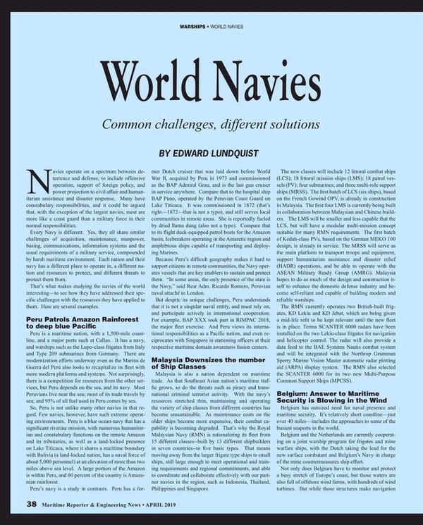 Maritime Reporter Magazine, page 38,  Apr 2019