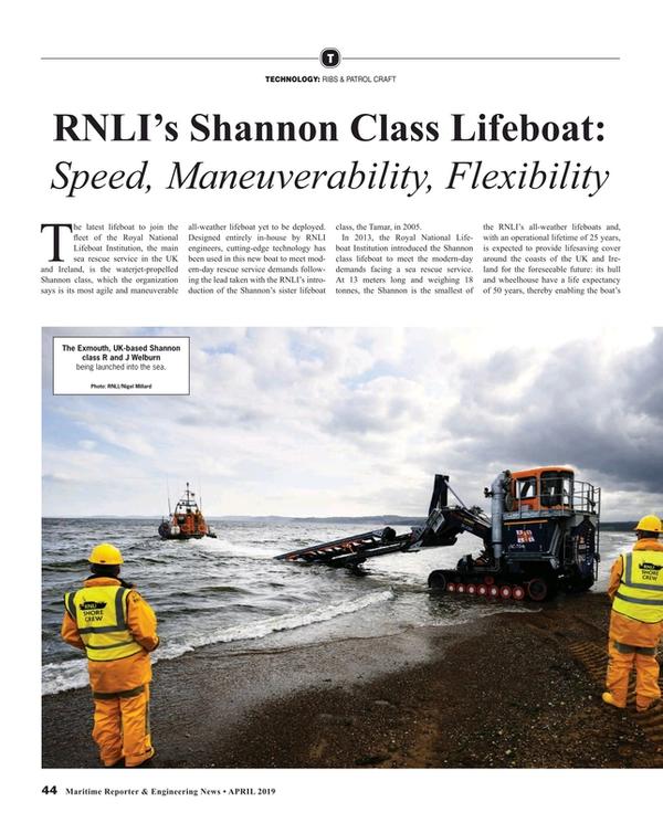 Maritime Reporter Magazine, page 44,  Apr 2019