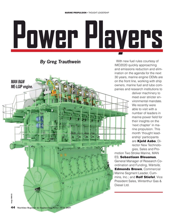 Maritime Reporter Magazine, page 44,  May 2019