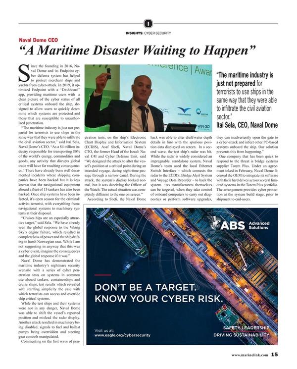Maritime Reporter Magazine, page 15,  Jun 2019