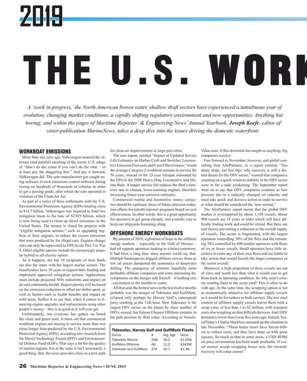 Maritime Reporter Magazine, page 26,  Jun 2019