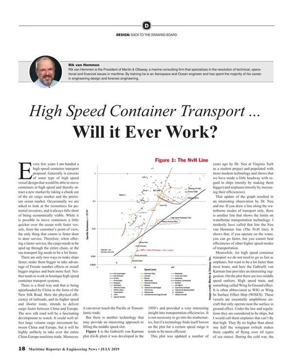 Maritime Reporter Magazine, page 18,  Jul 2019