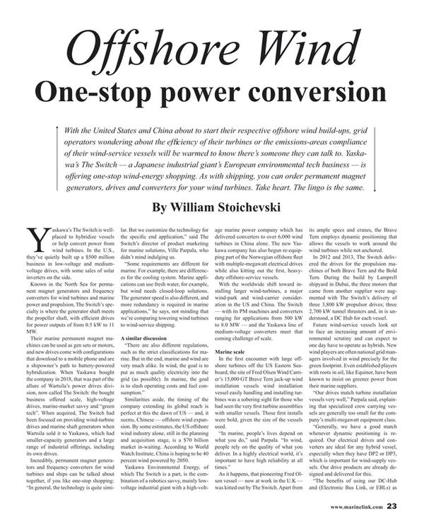 Maritime Reporter Magazine, page 23,  Jul 2019