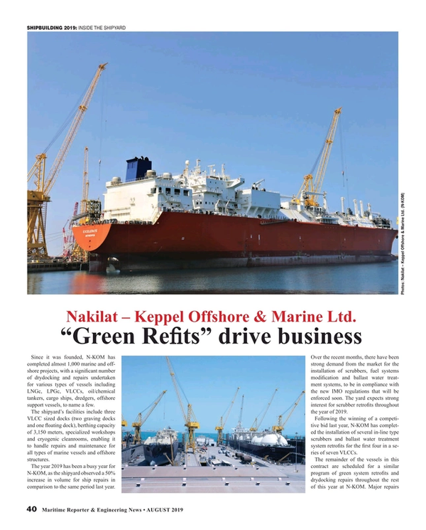 Maritime Reporter Magazine, page 40,  Aug 2019