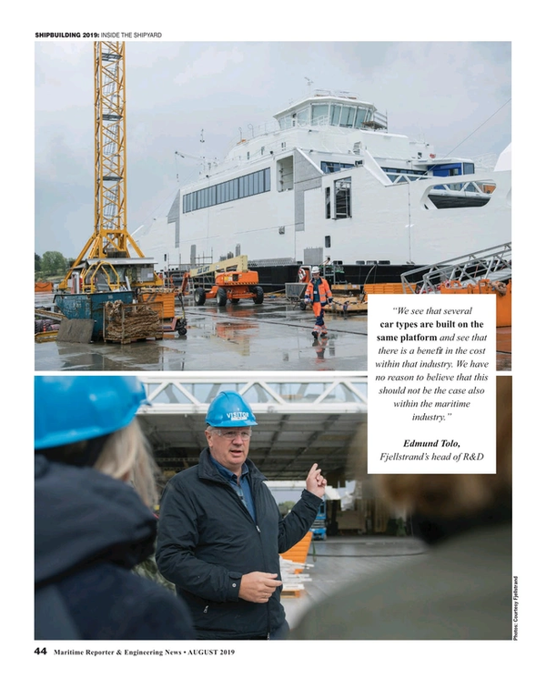 Maritime Reporter Magazine, page 44,  Aug 2019