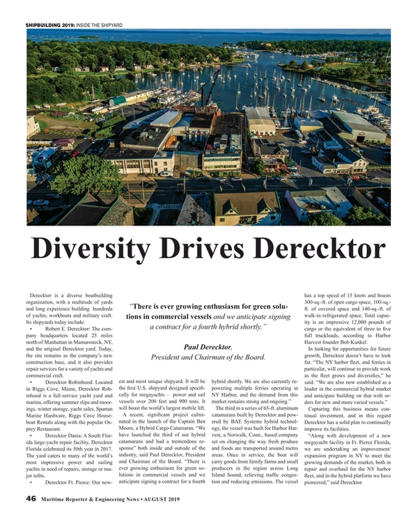 Maritime Reporter Magazine, page 46,  Aug 2019