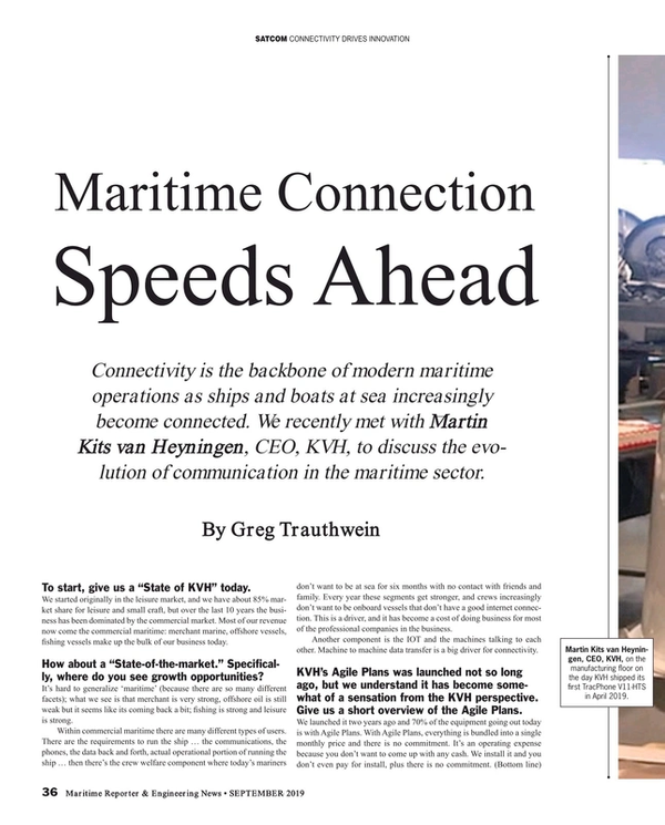 Maritime Reporter Magazine, page 36,  Sep 2019