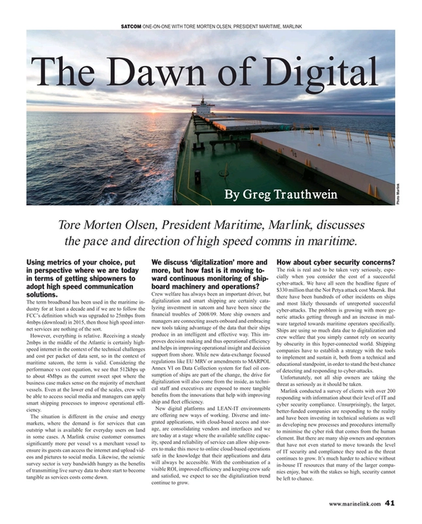 Maritime Reporter Magazine, page 41,  Sep 2019