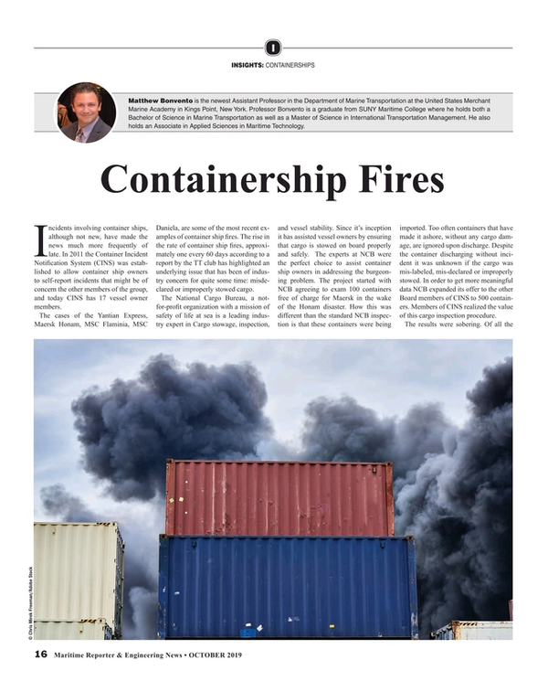 Maritime Reporter Magazine, page 16,  Oct 2019