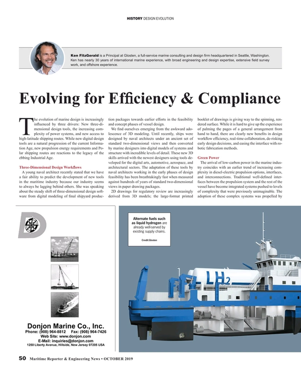 Maritime Reporter Magazine, page 50,  Oct 2019
