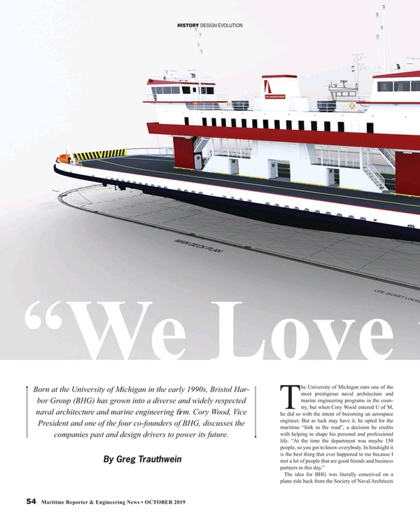 Maritime Reporter Magazine, page 54,  Oct 2019