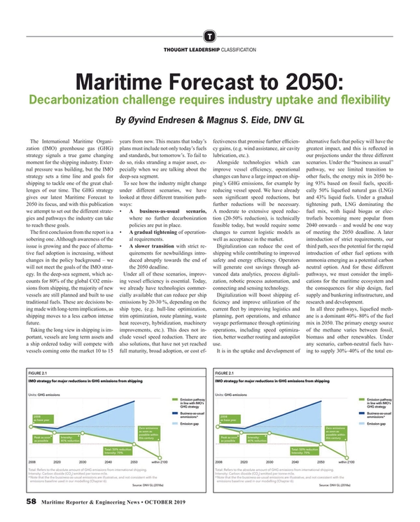 Maritime Reporter Magazine, page 58,  Oct 2019