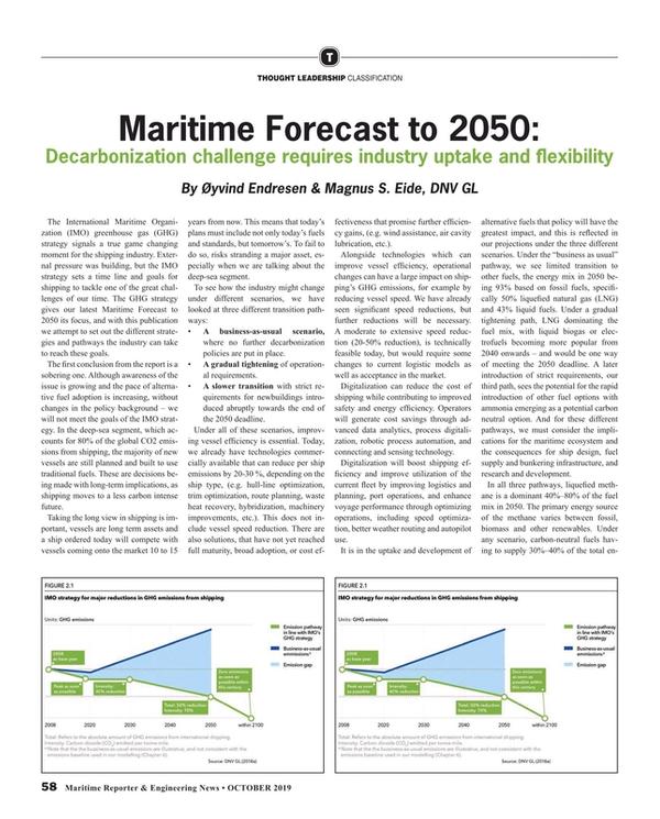 Maritime Reporter Magazine, page 58,  Oct 2019
