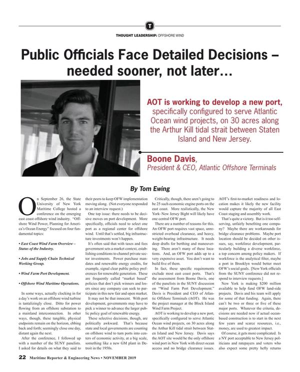 Maritime Reporter Magazine, page 22,  Nov 2019