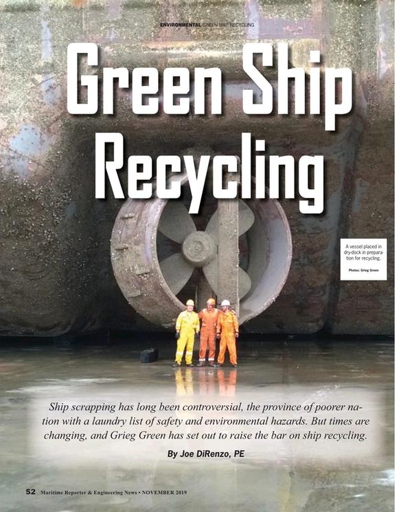 Maritime Reporter Magazine, page 52,  Nov 2019