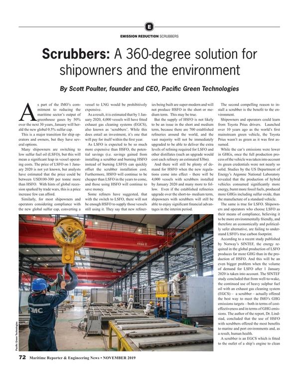 Maritime Reporter Magazine, page 72,  Nov 2019