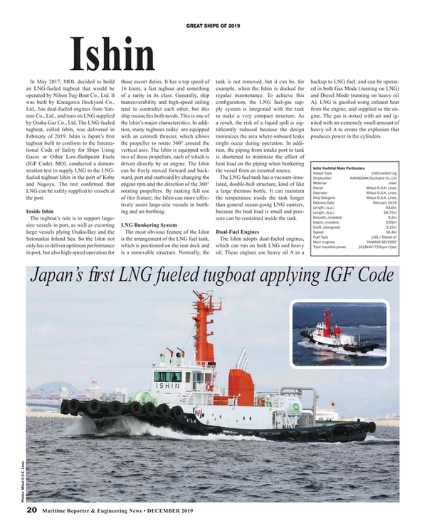 Maritime Reporter Magazine, page 20,  Dec 2019