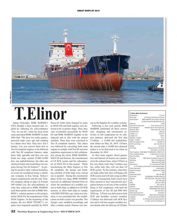 Maritime Reporter Magazine, page 22,  Dec 2019