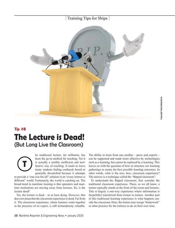 Maritime Reporter Magazine, page 10,  Jan 2020